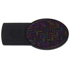 Lines Line Background Usb Flash Drive Oval (4 Gb)