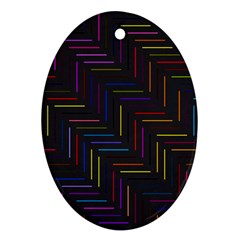 Lines Line Background Oval Ornament (two Sides)