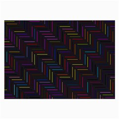Lines Line Background Large Glasses Cloth (2 Side)