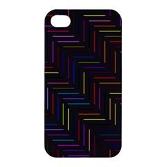 Lines Line Background Apple Iphone 4/4s Premium Hardshell Case