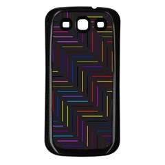 Lines Line Background Samsung Galaxy S3 Back Case (black)