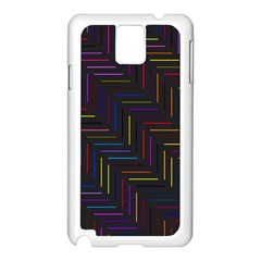 Lines Line Background Samsung Galaxy Note 3 N9005 Case (white)
