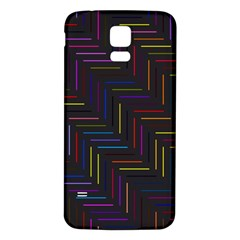 Lines Line Background Samsung Galaxy S5 Back Case (white)