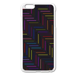 Lines Line Background Apple Iphone 6 Plus/6s Plus Enamel White Case