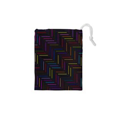 Lines Line Background Drawstring Pouches (xs)