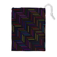 Lines Line Background Drawstring Pouches (extra Large)
