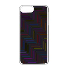 Lines Line Background Apple Iphone 7 Plus Seamless Case (white) by Nexatart