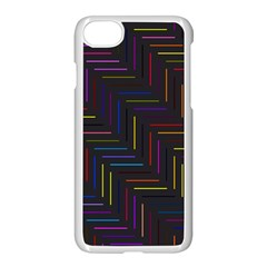 Lines Line Background Apple Iphone 7 Seamless Case (white)