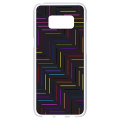 Lines Line Background Samsung Galaxy S8 White Seamless Case