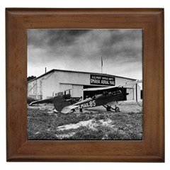 Omaha Airfield Airplain Hangar Framed Tiles
