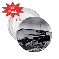 Omaha Airfield Airplain Hangar 2 25  Buttons (100 Pack)