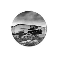 Omaha Airfield Airplain Hangar Magnet 3  (round)