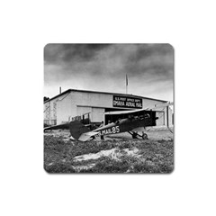 Omaha Airfield Airplain Hangar Square Magnet
