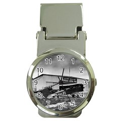 Omaha Airfield Airplain Hangar Money Clip Watches