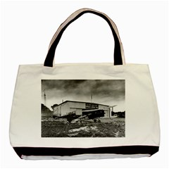 Omaha Airfield Airplain Hangar Basic Tote Bag