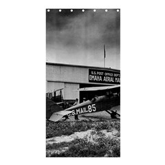 Omaha Airfield Airplain Hangar Shower Curtain 36  X 72  (stall)