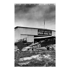 Omaha Airfield Airplain Hangar Shower Curtain 48  X 72  (small)