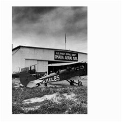 Omaha Airfield Airplain Hangar Large Garden Flag (two Sides)