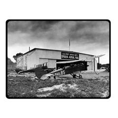 Omaha Airfield Airplain Hangar Double Sided Fleece Blanket (small)