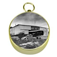 Omaha Airfield Airplain Hangar Gold Compasses