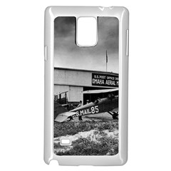 Omaha Airfield Airplain Hangar Samsung Galaxy Note 4 Case (white)