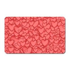 Background Hearts Love Magnet (rectangular)