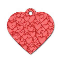 Background Hearts Love Dog Tag Heart (one Side) by Nexatart