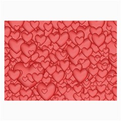 Background Hearts Love Large Glasses Cloth (2 Side)