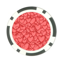 Background Hearts Love Poker Chip Card Guard (10 Pack)
