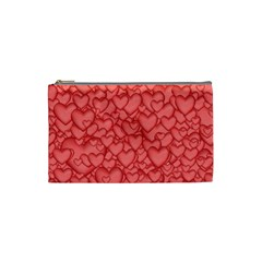 Background Hearts Love Cosmetic Bag (small)