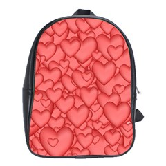 Background Hearts Love School Bag (large)