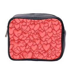 Background Hearts Love Mini Toiletries Bag 2 Side