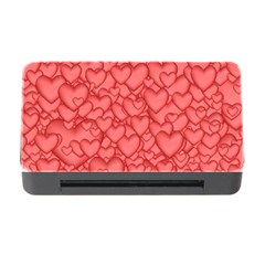 Background Hearts Love Memory Card Reader With Cf