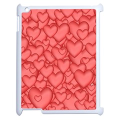 Background Hearts Love Apple Ipad 2 Case (white)