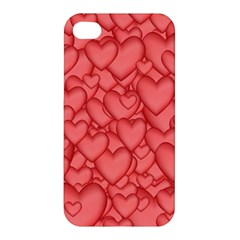 Background Hearts Love Apple Iphone 4/4s Premium Hardshell Case
