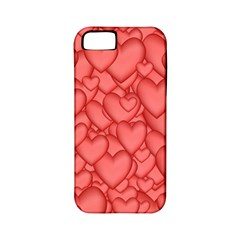 Background Hearts Love Apple Iphone 5 Classic Hardshell Case (pc+silicone)
