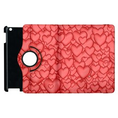 Background Hearts Love Apple Ipad 2 Flip 360 Case