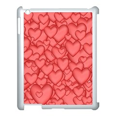Background Hearts Love Apple Ipad 3/4 Case (white)