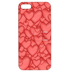 Background Hearts Love Apple Iphone 5 Hardshell Case With Stand