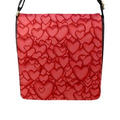 Background Hearts Love Flap Messenger Bag (l)