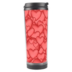 Background Hearts Love Travel Tumbler
