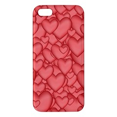 Background Hearts Love Iphone 5s/ Se Premium Hardshell Case