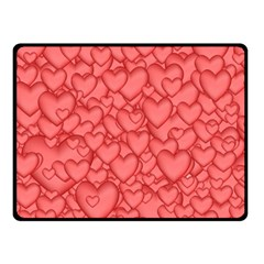 Background Hearts Love Double Sided Fleece Blanket (small)