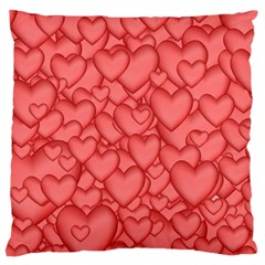 Background Hearts Love Large Flano Cushion Case (two Sides)