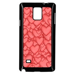 Background Hearts Love Samsung Galaxy Note 4 Case (black)