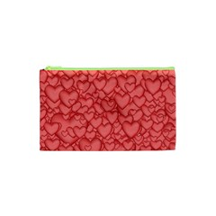 Background Hearts Love Cosmetic Bag (xs)