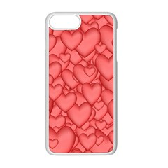 Background Hearts Love Apple Iphone 8 Plus Seamless Case (white)