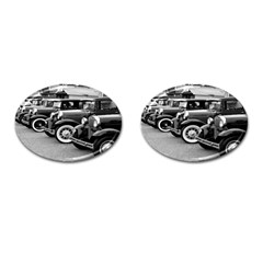 Vehicle Car Transportation Vintage Cufflinks (oval)