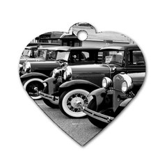 Vehicle Car Transportation Vintage Dog Tag Heart (one Side)