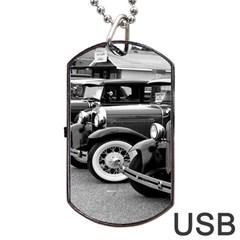 Vehicle Car Transportation Vintage Dog Tag Usb Flash (one Side)